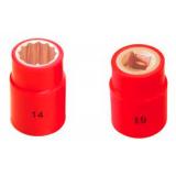 Dado (Corto) Aislado 1000V Antichispa Cuadrante 1/2 10 - 32 mm